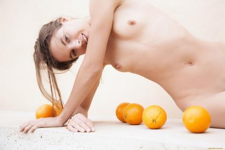 Массаж апельсинами